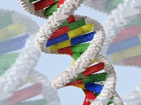 DNA Helix Structure (made of lego bricks)